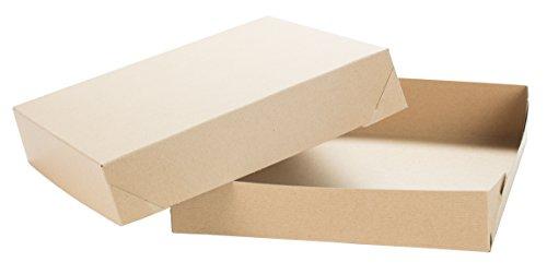(Premier Retail Kraft Lids-Large 12x12x2.5 Brown Gift Box with Subtle Pinstripe (10 Pack), 12 x 12 x 2.5)