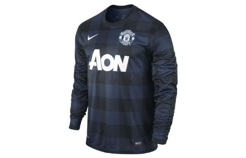 - Nike Manchester United Long Sleeve Away Replica Jersey (Midnight Navy) (S)