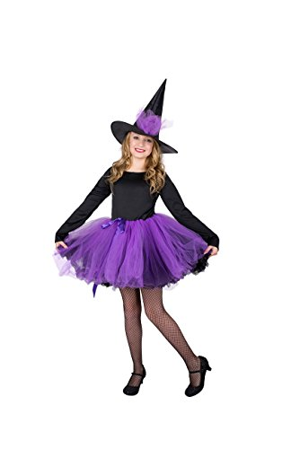 Good Creative Halloween Costumes (Witch Girl Costume Set - Perfect for Halloween, Costume Party - Large)