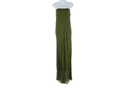 J Crew Green Beaded Formal Gown Dress Sz 6 Sample One of a Kind! (J Crew Gown)