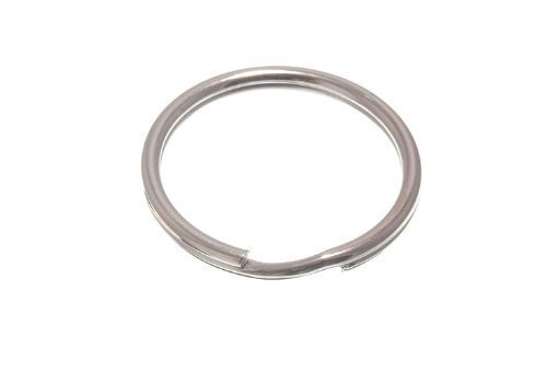 SPLIT KEY RING SPRING 50MM 2 INCH CP CHROME PLATED SPRUNG STEEL PACK OF 4 onestopdiy.com