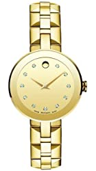 Movado Women's 0606816 Sapphire Gold-Plated Stainless Steel Watch