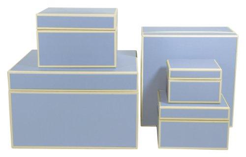 Semikolon Square Nesting/Organizer Boxes, Set of 5, Ciel Sky Blue (309-09) by Semikolon by Pierre Belvedere (Image #2)