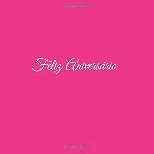Libro De Visitas Feliz Aniversário para Aniversário de Bodas decoracion accesorios ideas regalos eventos firmas fiesta hogar ... 21 x 21 cm Cubierta Rosa ...