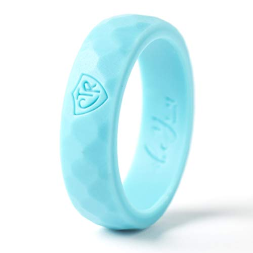 Be You Bands - Women's CTR Silicone Ring (Aqua, 8)