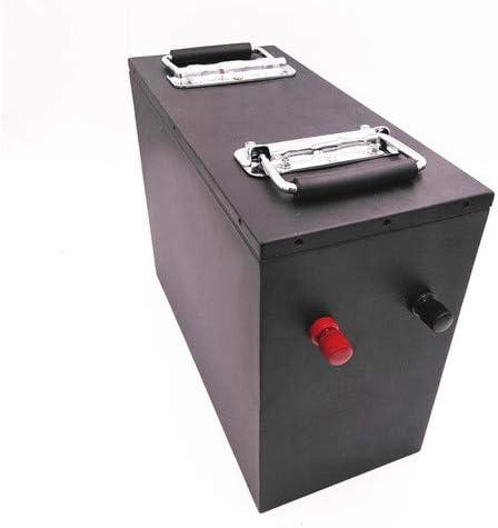China Selection 24V 100AH 24V100Ah Paquete de batería de fosfato de Litio LiFePO4 con Caja de Metal BMS para Almacenamiento de energía (Black)