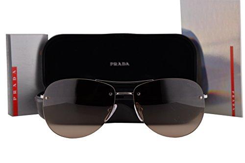 Prada PS50RS Sunglasses Gunmetal Gray w/Brown Gradient Lens 59mm 5AV6S1 SPS50R PS 50RS SPS - Sunglasses Jamie Foxx Amazon