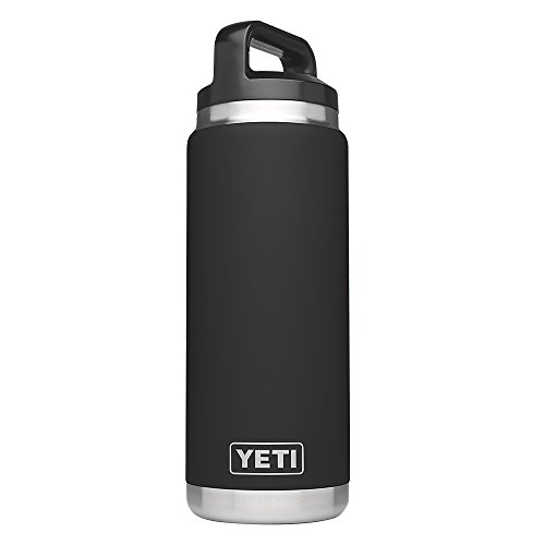 YETI Rambler 26oz Vacuum Insulated Stainless Steel Bottle with Cap, Black DuraCoat by YETI