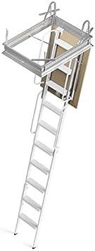Mister Step escalier escamotable 4P trou dhomme 90 x 50 cm., Blanc