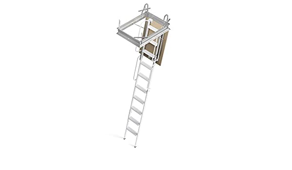 Mister Step escalera retráctil 4P con estructura rígida a 4 piezas, pasamanos y Botola: Amazon.es: Bricolaje y herramientas