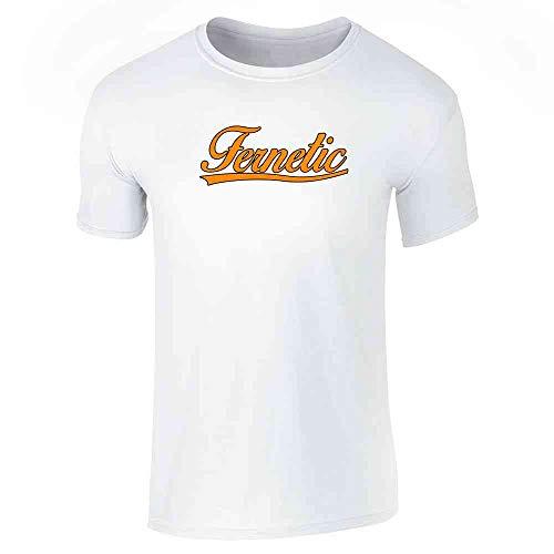 Pop Threads Fernetic Fernet Graphic White S Short Sleeve T-Shirt