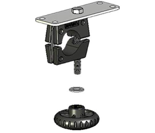 "Magma Products T10-591, Mount, Horizontal Round Rail w/Knob, 1 1/2"", Ea, (HD) Grill / (DM) Table"