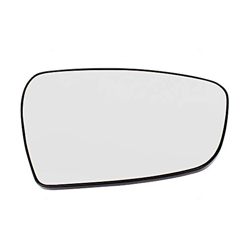 (Passengers Side View Mirror Glass w/Base Heated Replacement for 14-18 KIA Forte Sedan & Forte5 87621A7040)