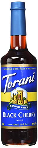 - Torani Sugar Free Black Cherry Syrup 750mL