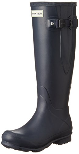 Hunter Campo De Norris Lado Señoras Ajustable Wellington Boot azul