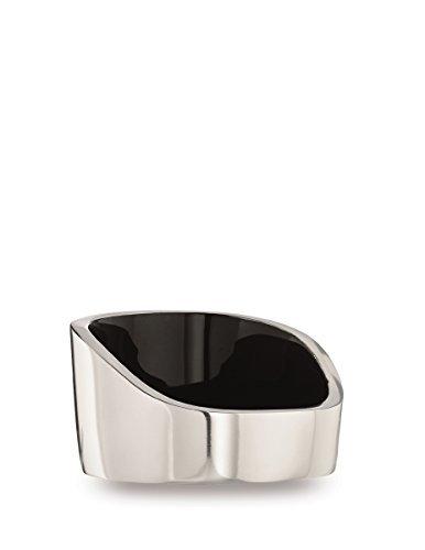 Bottle Coaster (Savora Dimple Aluminum and Enamel Wine Coaster, Noir)
