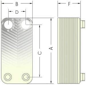 """125kW 3//4/"""" Edelstahl W/ärmetauscher Plattenw/ärmetauscher NORDIC TEC Ba-23-30 30 platten"""
