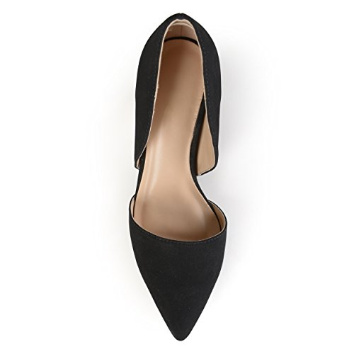 Journee Pumps Almond Collection Journee Collection out Toe Womens Cut Black BqxBTwO