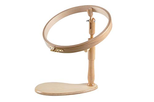 Embroidery Sitting Frame  Lap Hoop   Wooden Cross Stitch Ring   Hardwood Tension Circle  High and Angle Adjustable crosstitch Frame   Needlepoint seat Stand   Foot Hoopla  
