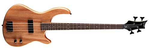 Bass Guitar Natural Satin (Dean E09M Edge Mahogany Electric Bass Guitar - Natural)