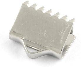6 Packs 5 x Silver 304 Stainless Steel Ribbon Ends 9 x 10mm BB-HA12675 Bulk Buy Offer Charming Beads