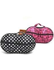 (2Pcs Travel Home Organizer Zip Bag Case Bra Underwear Lingerie Case Storage Bag)