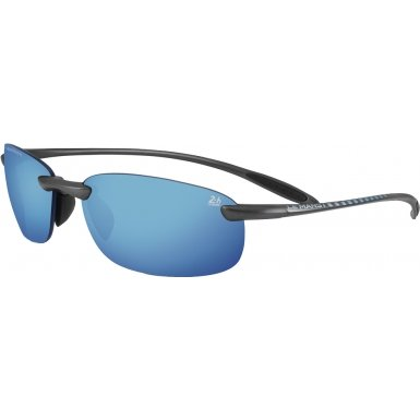 Serengeti Nuvola 24 Hour Le Mans Safety Glasses, Satin Dark Gun/Polarized Blue by Serengeti