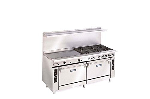 Imperial Commercial Restaurant Range 72'' With 6 Burner 36'' Griddle Oven/Cab Nat Gas Ir-6-G36-Xb by Imperial
