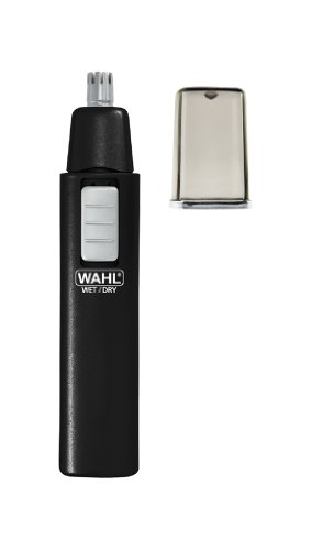 Wahl 5567-500 Ear, Nose and Brow Wet/Dry Battery Trimmer, Black