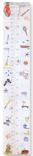 The Kids Room by Stupell Multi-Sport Growth Chart, 7 x 0.5 x 39, Proudly Made in USA (Sports Wall Hanging Letters)