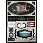 Stock Ohio - Scrapbook Customs United States Collection Ohio State Cardstock Stickers Travel