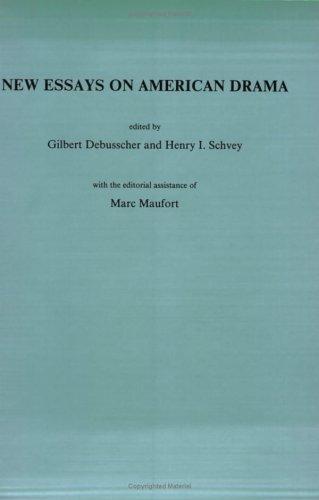 New Essays in American Drama (Costerus NS 76) (Costerus New Series)