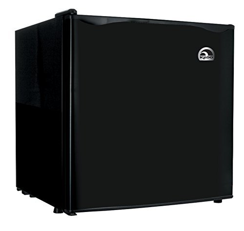 Igloo FR100 Fridge, 1.6 cu. ft., Black (Refrigerator Compact Black)