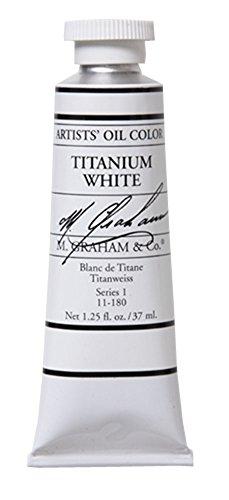 M. Graham 1-1/4-Ounce Tube Oil Paint, Titanium White by M. Graham & Co. (M Graham Titanium White)