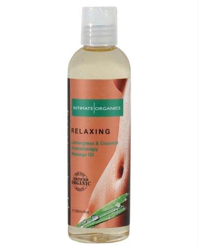 Bio Huile de Massage Relaxante w / citronnelle et noix de coco - 4 oz