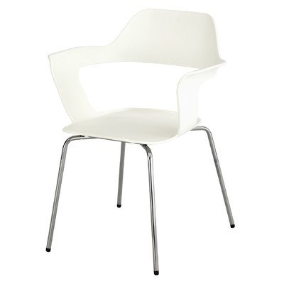 (Safco Products Bandi Shell Stack Chair 4275WH, White, Sturdy Steel Frame, Polypropylene Shell, Stacks 8 High)