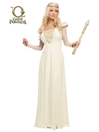 Deluxe Glinda Adult Costumes (Glinda Adult Deluxe Costume,White,Medium)