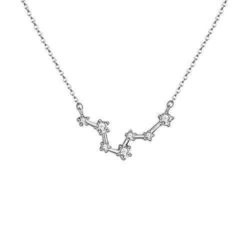 OSIANA Constellation Necklace Pendant Dainty Horoscope Sign Zodiac Model Astrology Choker Personalized Birthday Gift for Women
