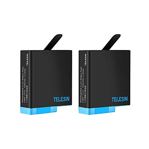 TELESIN 2-Pack Replacement Batteries for GoPro Hero 8 Hero 2018 / Hero 7 Black / Hero 6 Black / Hero 5 Black, 1220mAh Rechargeable Battery for Original GoPro Camera