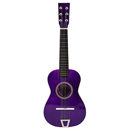 Yamix Kids Guitar with 6 Strings Guitar Musical Toys Emulational Musical Instruments for Kids Children (Purple)