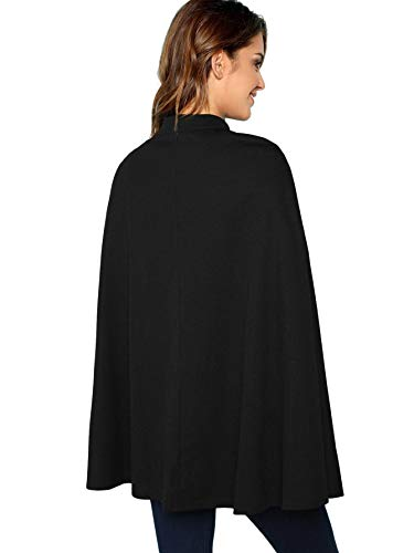 QueenHandsWomen QueenHands Women Casual Shawl Oversized Stylish Cloak Cape Suit Outwear