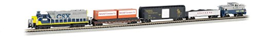 - Bachmann Industries Freightmaster Ready To Run 60 Piece Electric Train Set Train Car N Scale