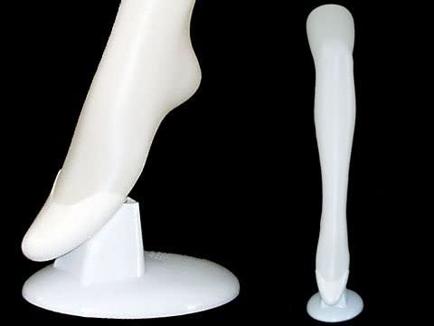 Hosiery//Sox//Sock Display ROXY DISPLAY Plastic Female Mannequin Long Leg White PS-5013