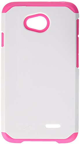 Asmyna Cell Phone Case for LG MS323 & Other LG Phone - Retail Packaging - Ivory/Pink/White (Lg Realm Hot Pink Phone Case)