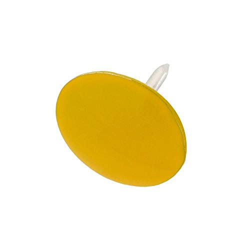 13/32 in. Yellow Thumb Tacks (60-Piece) -  Everbilt, 801404