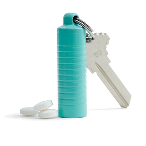 Cielo Pill Holders - Slim Single Chamber Pill Holder - Made in USA (Stainless - Tiffany - Usa Tiffany