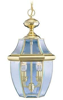 Livex Lighting 2255-02 Monterey 2-Light Outdoor Hanging Lantern, Polished Brass ()