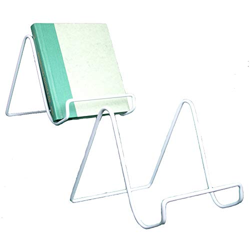 (Wire Easel Plate Stands Display Holder - Sturdy White White Metal Stands - 6 Inch - Pack of 2)