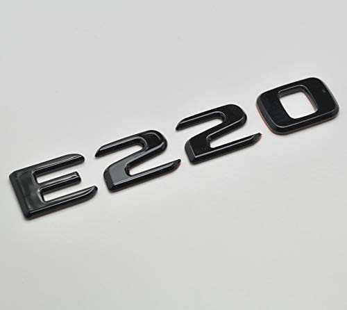 Gloss Black E220 Flat Benz Car Model Numbers Letters Badge Emblem For Benz E Class W210 W211 W212 C207//A207 W213 AMG