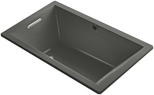 KOHLER K-1849-VB-58 Underscore 60-Inch x 36-Inch Drop-In Bath with Reversible Drain, Thunder Grey